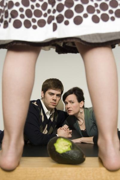 Joe Lanza (Clay) and Aimee Doherty (Kelly)