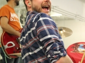 Drummer Ethan Selby in rehearsal (Photo by Susanna Jackson)