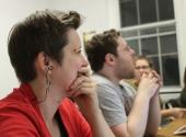 Dramaturg Ilana Brownstein and Asst. Director Josh Glenn-Kayden (Photo by Susanna Jackson)