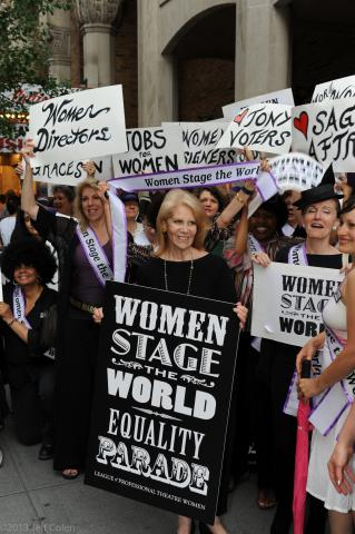 The 2013 Women Stage the World Parade in Manhattan's Theatre District. Photo by Jeff Colen Photography.