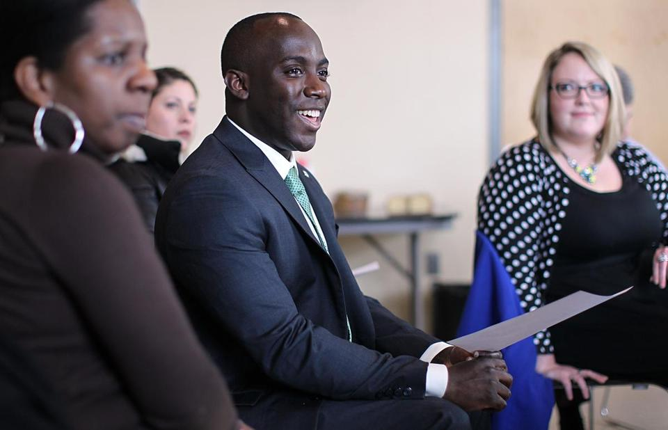 Shaun Blugh, 30, has been appointed the City of Boston's first-ever chief diversity officer.  Photo: Suzanne Kreiter/Globe staff