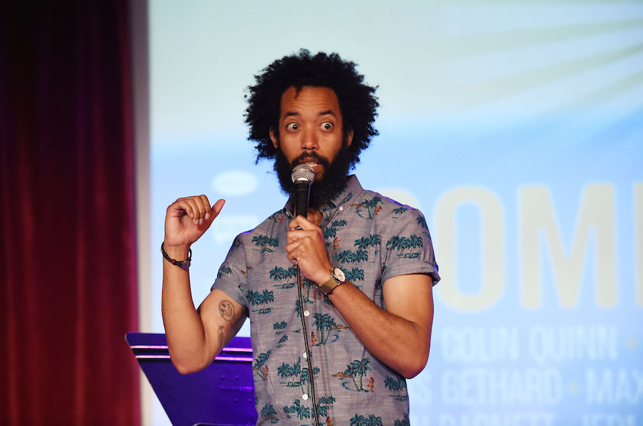 Comedian Wyatt Cenac performs onstage at the Vulture Festival Presents: Comedy Night at The Bell House on May 31 in Brooklyn, New York. Bryan Bedder/Getty Images