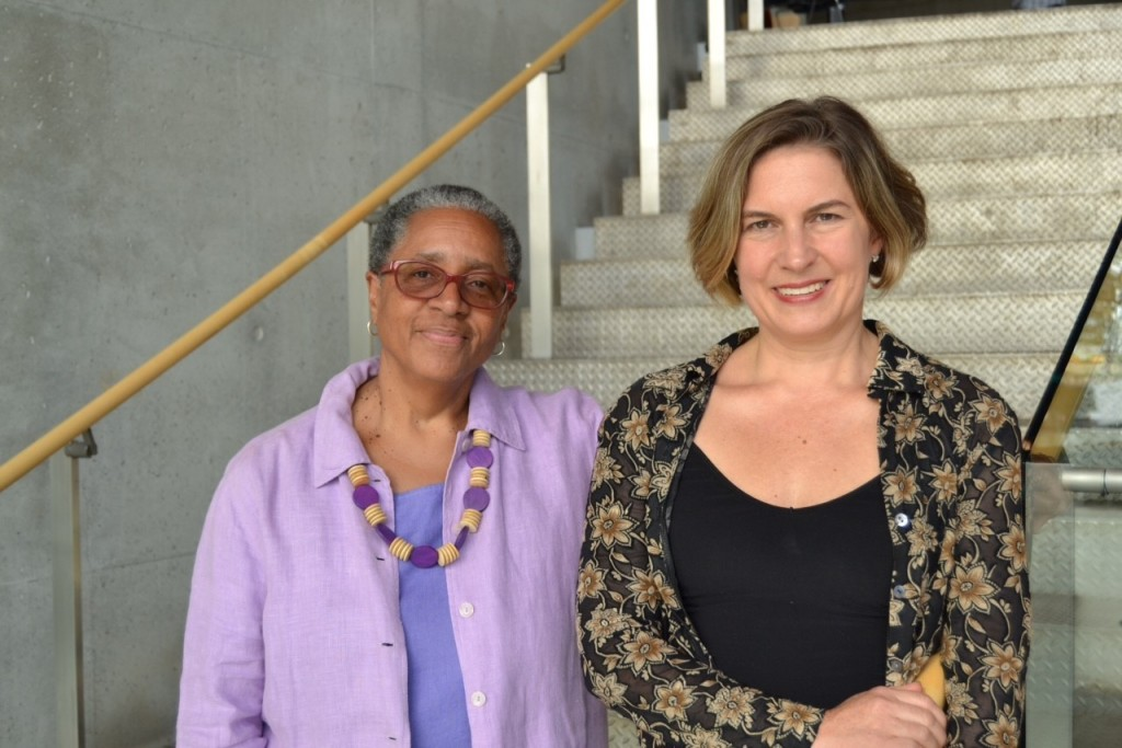 Caleen Sinnette Jennings, left, and Karen Zacarias are two of the playwrights whose works are being presented during the Women's Voices Theater Festival. (Kirstin Franko)