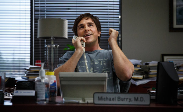 "Christian Bale in a scene from ""The Big Short."" Credit Jaap Buitendijk/Paramount Pictures, via Associated Press"