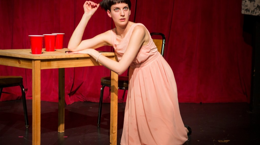 "Erin Pike in ""That'swhatshesaid."" (Photo by Tim Summers)"