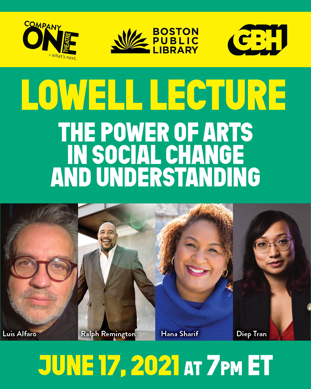 Lowell Lecutre: The Power of Arts in Social Change and Understanding
